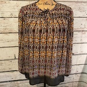 New Direction Multicolor Peasant Top Size Medium